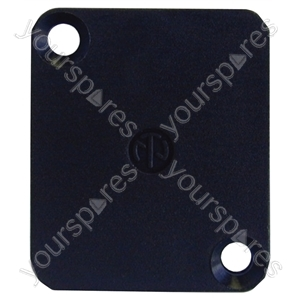 Neutrik Black DBA XLR Chassis Blank Plate