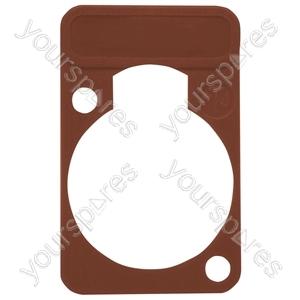 Neutrik DSS0XLR Coloured Lettering Plate - Colour Brown