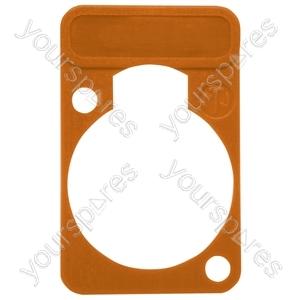 Neutrik DSS0XLR Coloured Lettering Plate - Colour Orange
