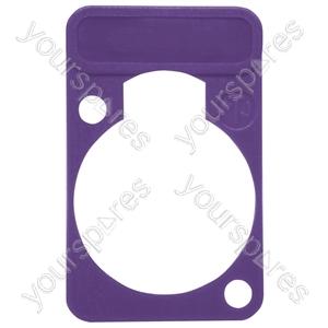 Neutrik DSS0XLR Coloured Lettering Plate - Colour Purple