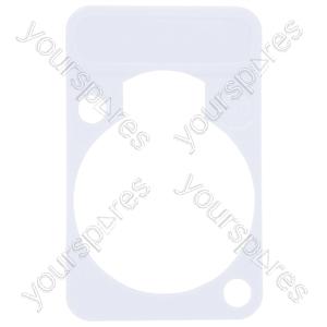 Neutrik DSS0XLR Coloured Lettering Plate - Colour White