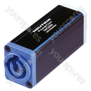 Neutrik NAC3MM 3 Pin Powercon Inlet to Outlet Coupler