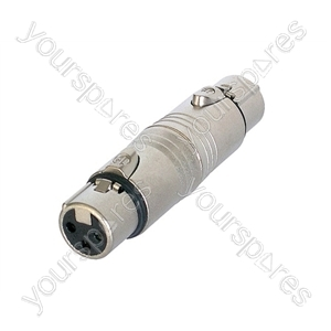 Neutrik NA3FF 3 Pin XLR female to 3 Pin XLR Female Adaptor/Coupler