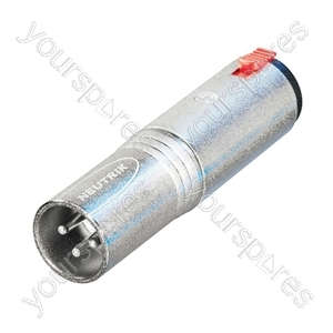 Neutrik NA3MJ 3 Pole XLR Male to 6.35mm Stereo Locking Jack Socket