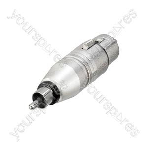 Neutrik NA2FPMM 3 Pin XLR Female to Phono Plug Adaptor