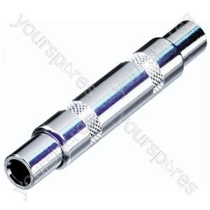 REAN NYS238 Stereo 6.35mm Jack Socket to 6.35mm Stereo Jack Socket Coupler/Adaptor