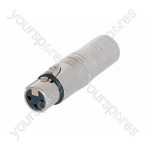 Neutrik NA3F5M 3 Pin Female XLR to 5 Pole Male XLR DMX Adaptor