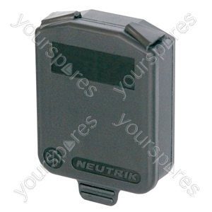 """Neutrik SCDX Hinged Cover for Standard """"D"""" Fixing Chassis Connectors With IP54 Ratting"""