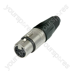 Neutrik NC6FCX Female 6 pin line Connector with Silver Contacts