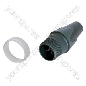Neutrik BXX-CR Black Bushing with Clear Coding Ring for Customized Labelling of Neutrik XLR Plugs