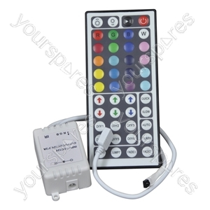 RGB Flexible Tape Controller and 44 Key Hand-held Infra-red Controller