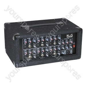 Mono 6 Channel Mixer Amplifier with Digital Effects 100+100W
