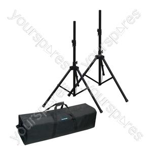 NJS 35mm Adjustable Aluminium PA Speaker Stand Kit (2)