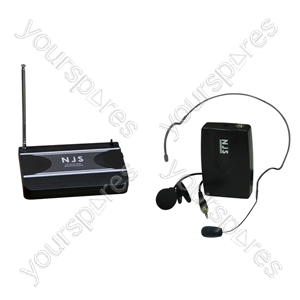 New Jersey Sound 174.1 MHz VHF Head Band Radio Microphone System