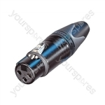 Neutrik NC3FXX-B Female 3 Pin XLR Line Socket With Gold Plated Contacts