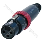 Neutrik NC3FXS Female 3 Pin XLR Switched Line Socket With Gold Plated Contacts