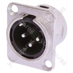 Neutrik NC3MD-L-1  Male 3 Pin XLR Chassis Socket