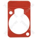 Neutrik DSS0XLR Coloured Lettering Plate - Colour Red