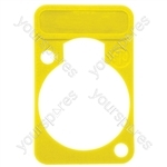 Neutrik DSS0XLR Coloured Lettering Plate - Colour Yellow