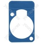 Neutrik DSS0XLR Coloured Lettering Plate - Colour Blue