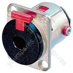 Neutrik Nickel NJFP6C 6.35 mm Locking Stereo Jack Chassis Socket