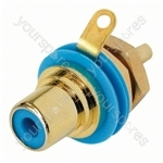 REAN  NYS367 Phono Chassis D Size Socket With Gold Plated Contacts and Colour Code