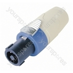 Neutrik NL4FX Standard 4 Pole Speakon Cable Connector and Colour Code - Colour White