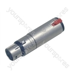 Neutrik NA3FJ 3 Pin XLR Female to 6.35mm Stereo Locking Jack Socket Adaptor