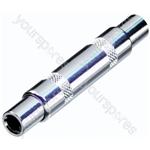 REAN NYS236 Mono 6.35mm Jack Socket to 6.35mm Mono Jack Socket Coupler/Adaptor