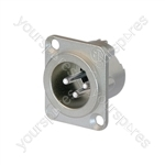 Neutrik NC3MDLX Male 3 Pin XLR Chassis Socket