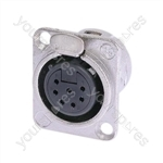 Neutrik NC7FD-L-1 Female 7 Pin chassis Socket