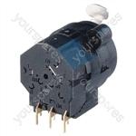 Neutrik NCJ9FI-H Horizontal PCB Mount 3 Pin XLR Female Receptacle with 6.35mm Switching Stereo Jack