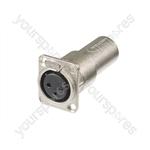 Neutrik NA3FDM 3 Pin Female to 3 Pin Male Feed Through Panel Mount Adapter
