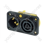 Neutrik NAC3PX 16A Male & Female Powercon True Combination Cable Connector with Twist Lock System