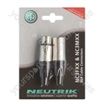 Neutrik NC3FXX and NC3MXX 3 Pin XLR Twin Pack Blister