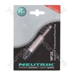 Neutrik Nickel NP2X-POS New Professional 2 Pole 6.35 mm Mono Jack Plug Blister