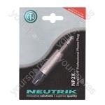 Neutrik Nickel NP3X-POS New Professional 3 Pole 6.35 mm Stereo Jack Plug Blister