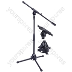 Low Level Microphone Stand with Boom Arm