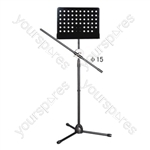 Black Boom Arm Microphone and Sheet Music stand