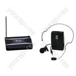 New Jersey Sound 175.0 MHz VHF Tie Clip Radio Microphone System
