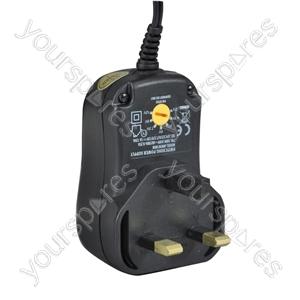 Multi-Voltage 1000ma Regulated Switch Mode Power Supply UK Plug