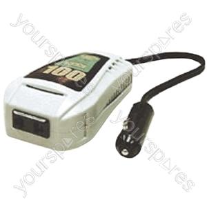 100W 12Vdc Inverter With European Mains Schuko Socket.  Blister Pack