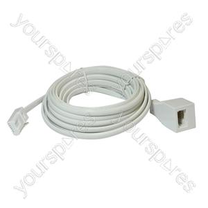 Telephone Extension Lead (BT Plug to BT Socket) - Length (m) 3