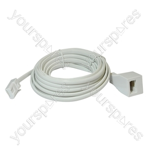 Telephone Extension Lead (BT Plug to BT Socket) - Length (m) 10