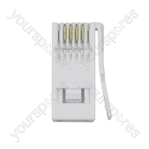 431A 4 Pin Plug For Replacing Damaged or Worn Telephone Plugs