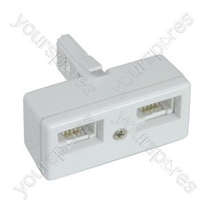 Double Telephone Adaptor (4 Wire)