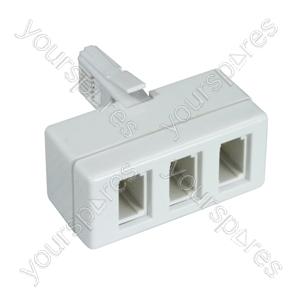 3 Way Telephone Adaptor (4 Wire)