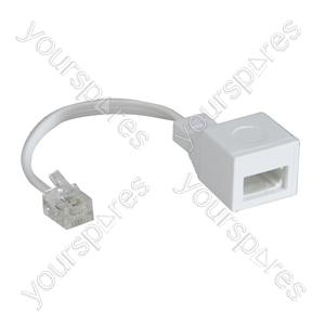 US/UK Adaptor to Convert a UK BT Plug into a US RJ11 Plug