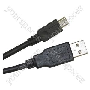 USB Male A to USB Mini B Lead - Length (m) 2