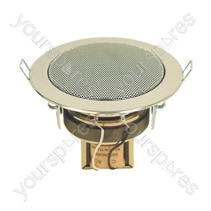 Eagle 100 V Line Compact Flush Fit Ceiling Speaker - Colour Chrome